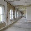 entkernte 1. Etage des Abfertigungsgebäudes Flughafen Leipzig-Mockau