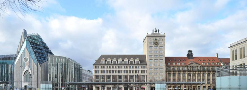 Augustusplatz Leipzig  Krochhochhaus